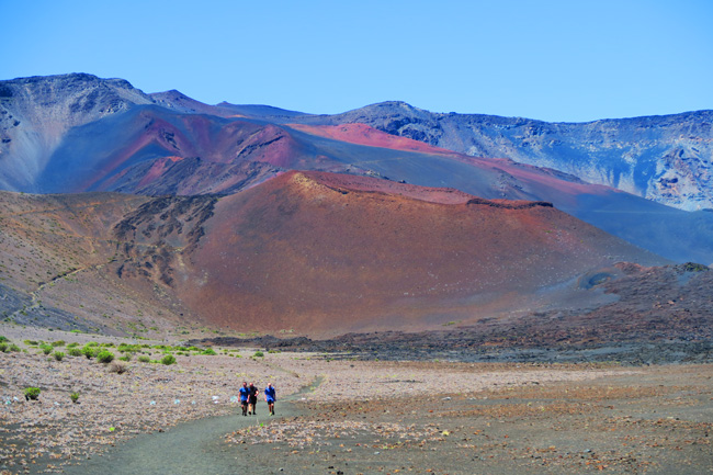 Sliding Sands Hike - Haleakala Crater - Maui Hawaii - hikers