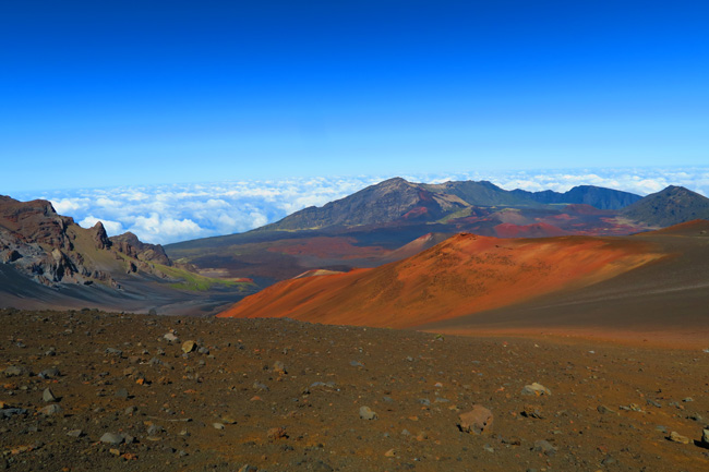 Sliding Sands Hike - Haleakala Crater - Maui Hawaii - red shades