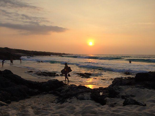 Sunset in Kua Bay - Big Island Hawaii