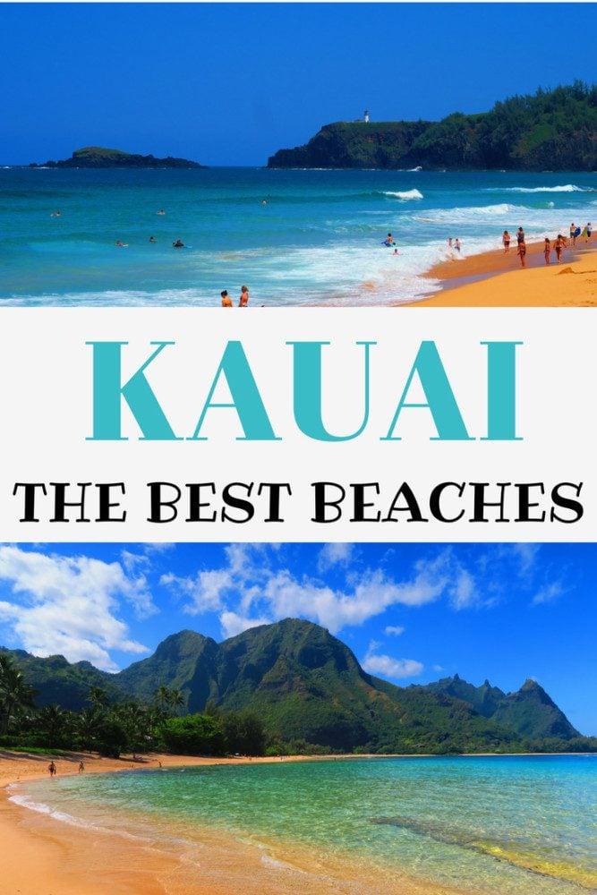 The Best Beaches In Kauai - Pinnable Image