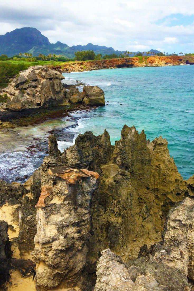 The Best Beaches On Kauai - Pinnable Image.