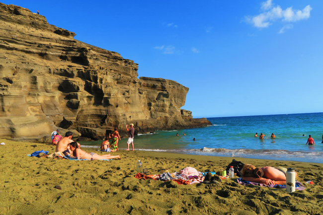 The Green Sand Beach - Big Island Hawaii