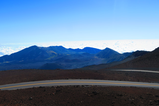 View of Haleakala Crater from summit - Maui Hawaii