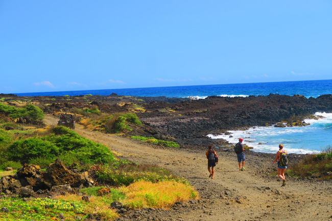 hike to Green Sand Beach - Big Island Hawaii