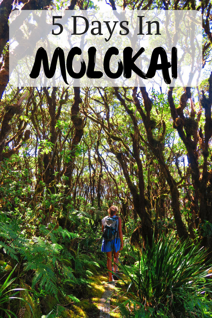 5 Days In Molokai - Hawaii - Sample Itinerary - Pin
