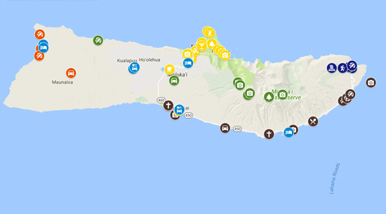 5 Days In Molokai Map