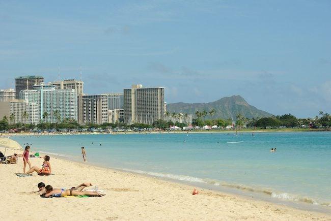 Ala Moana Beach - Honolulu - oahu - Hawaii