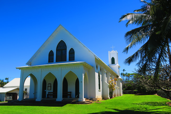 Church in Kalaupapa Vilage - Molokai - Hawaii - Exterior