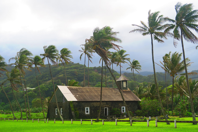 Church in Ke'anae Peninsula - Hana Highway - Maui - Hawaii