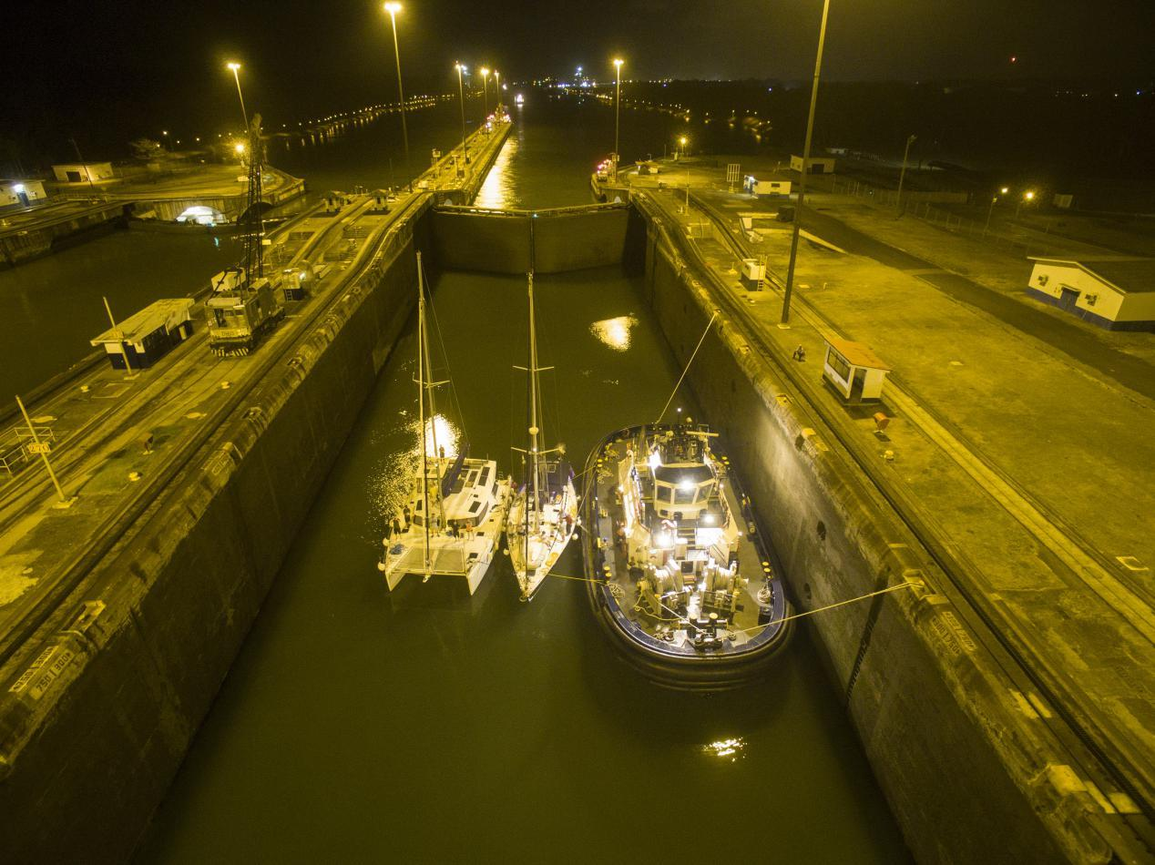 Crossing Panama Canal - Starry Horizons