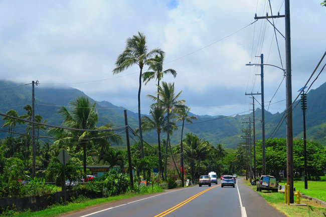 Driving in Oahu - Hawaii