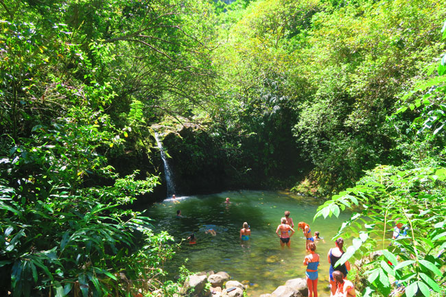 Haipuaena Falls Secret Pool - Hana Highway - Maui - Hawaii