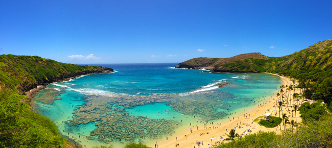 Hanauma Bay - Oahu - Hawaii - Panoramic View