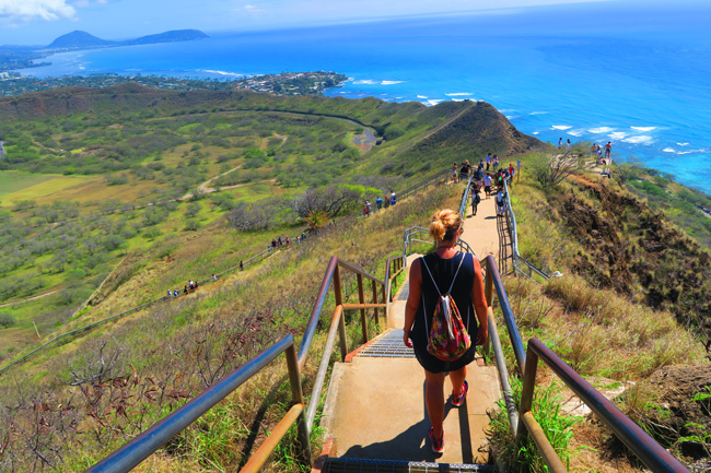 Hiking Diamond Head - Honolulu -Oahu- Hawaii