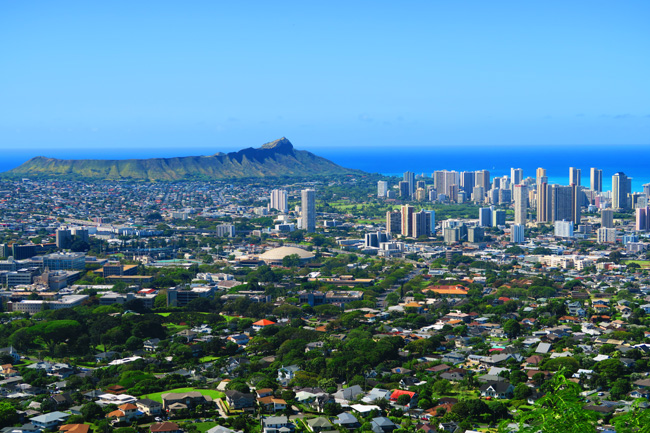Honolulu Panoramic View - Tantalus Scenic Drive - Oahu - Hawaii