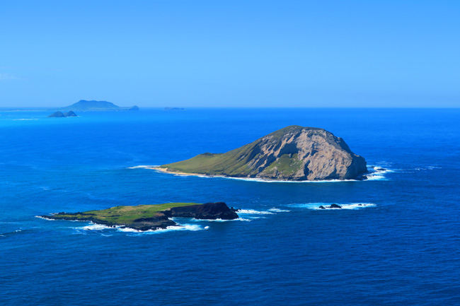 Islets off Makapu'u Point Lighthouse Trail - Oahu - Hawaii