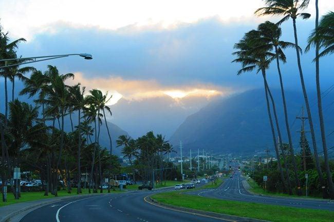 Kahului and Wailuku - Maui - Hawaii - Sunset Iao Valley