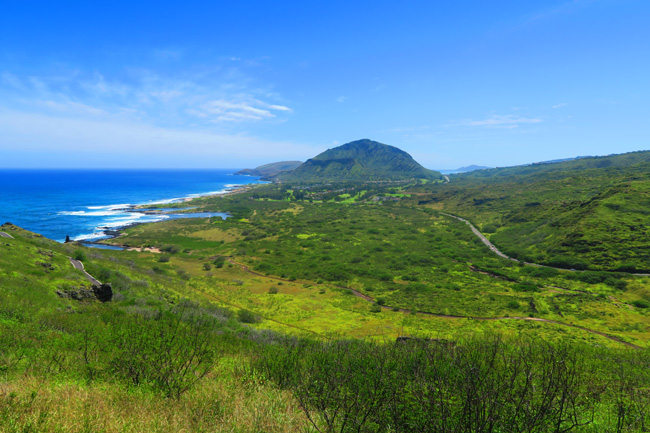 Koko Head from Makapu'u Point Lighthouse Trail - Oahu - Hawaii