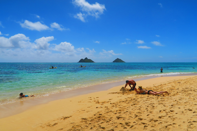 Lanikai Tropical Beach - Oahu - Hawaii