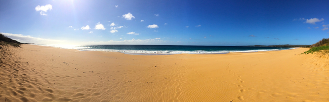 Molokai Beach - Panoramic View - Hawaii