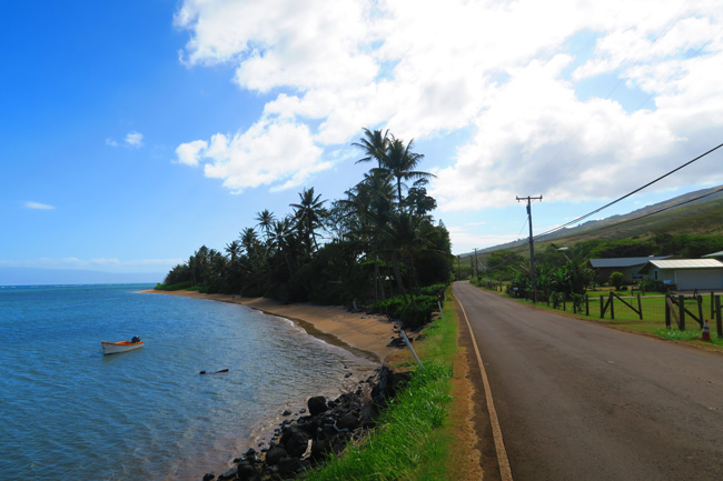 Molokai scenic coastal road - Hawaii