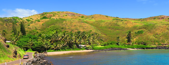 Molokai scenic drive south coast - Hawaii