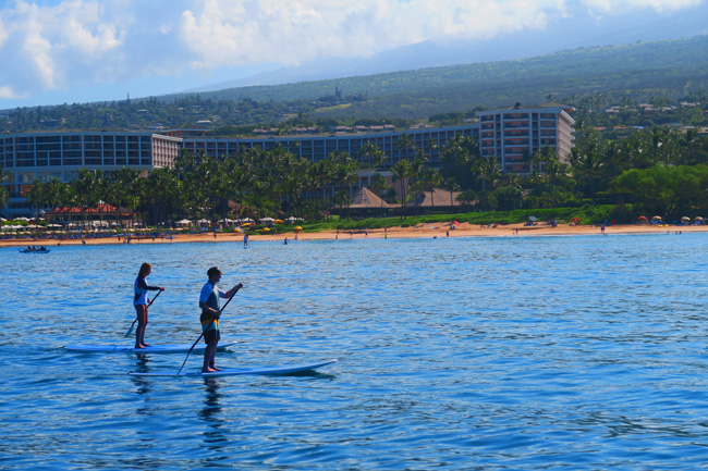 Paddle boarding Wailea Beach - Maui - Hawaii