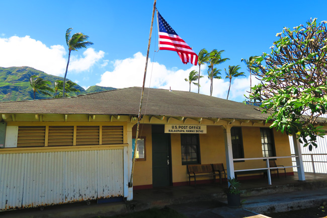 Post office in Kalaupapa Village - Molokai- Hawaii