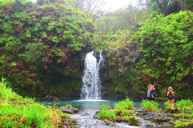 Pua'a Ka'a Falls - Hana Highway - Maui - Hawaii