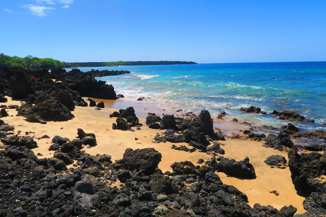 Rugged beach in Maui - Hawaii