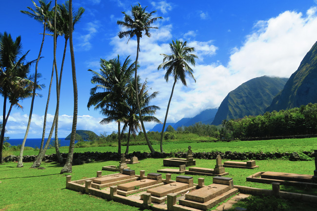 St Philomena Father Damien Church - Cemetery - Kalaupapa - Molokai - Hawaii
