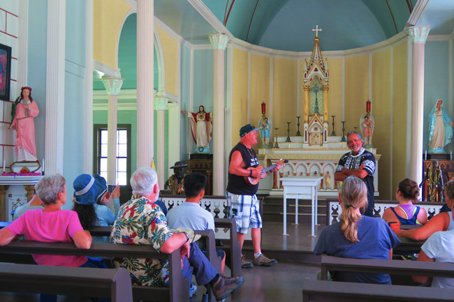 St Philomena Father Damien Church - Interior - Kalaupapa - Molokai - Hawaii