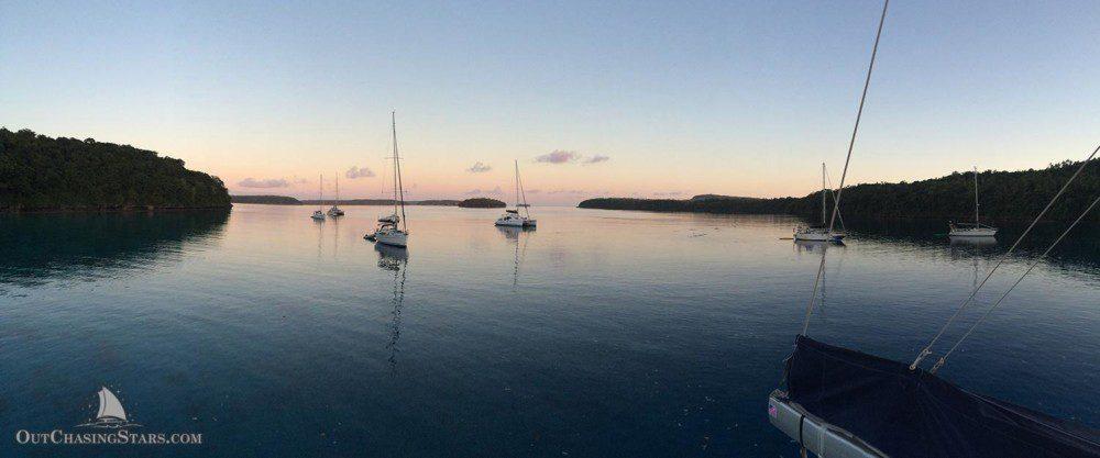 Starry Horizons - Port Maurelle on a still morning