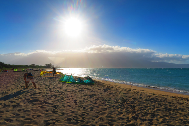 Sunset in Kahana Beach Park - Maui - Hawaii