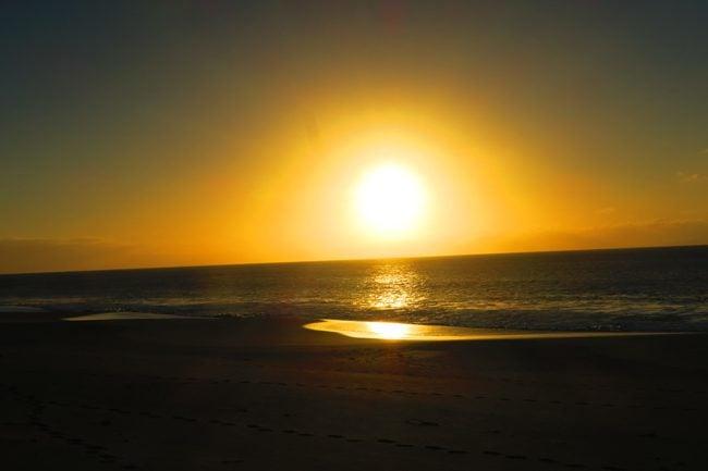 Sunset in Papohaku Beach - Molokai - Hawaii