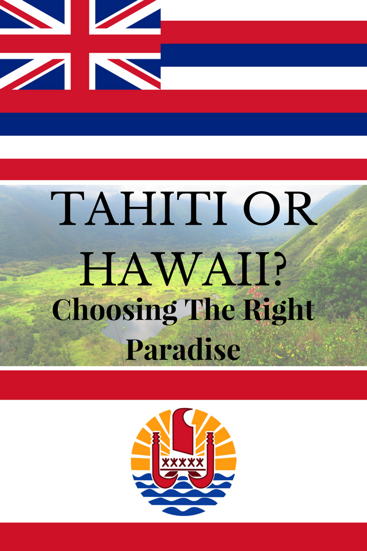 Tahiti or Hawaii - Pin