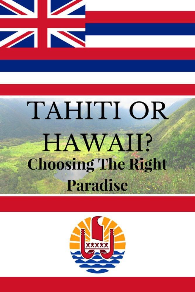 Tahiti or Hawaii - Pin