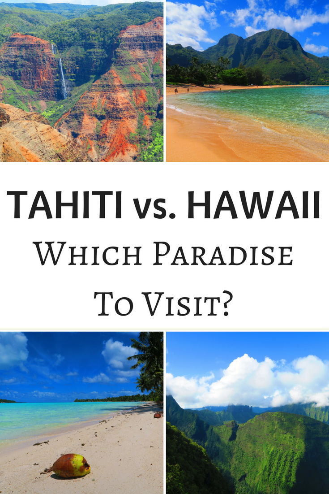 Tahiti vs Hawaii - Pin