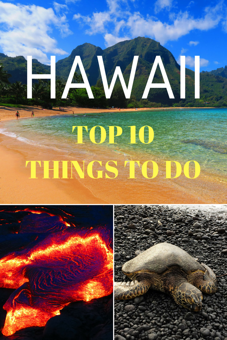 Top 10 Things to do in Hawaii - Pin