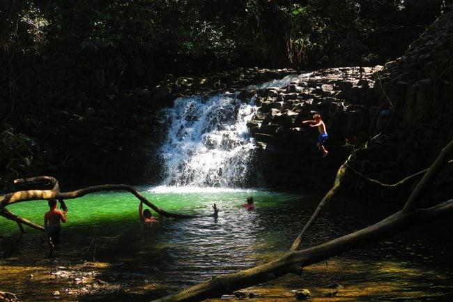 Twin Falls - Upper Pool - Hana Highway - Maui - Hawaii.