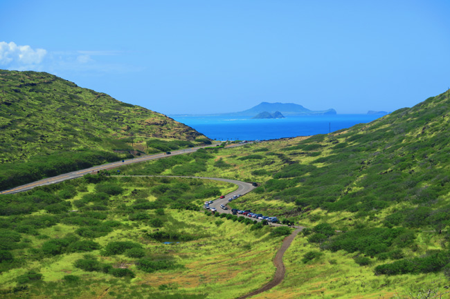 View from Makapu'u Point Lighthouse Trail - Oahu - Hawaii