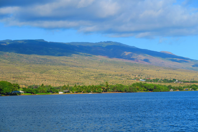 View of Molokai from Kaunakakai Pier - Hawaii