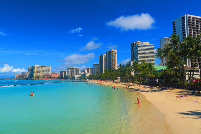 Waikiki Beach - Honolulu - Oahu - Hawaii