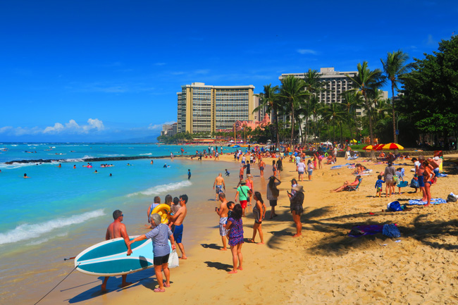 Waikiki Beach Honolulu Oahu Hawaii X Days In Y