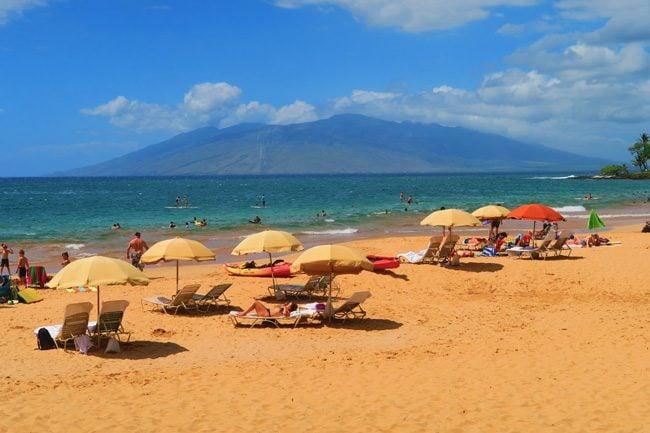 West maui from Wailea Beach - Hawaii