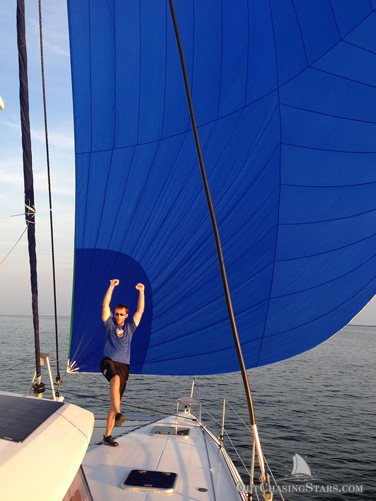starry horizons - getting spinnaker up