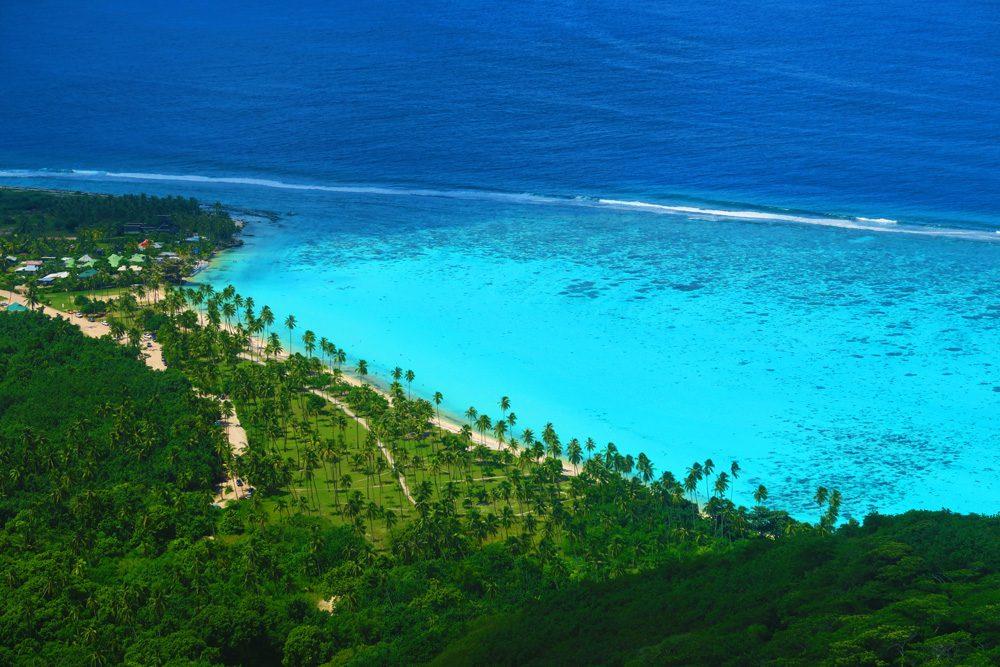 חוף במוריאה - טהיטי - פולינזיה הצרפתית
