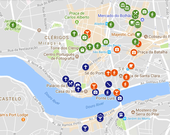 3 Days In Porto Sample Itinerary Map