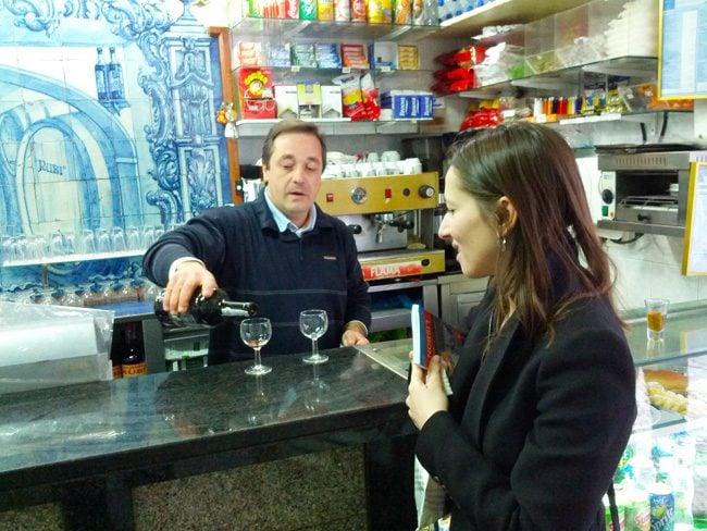 A Ginghina Bar Lisbon Portugal