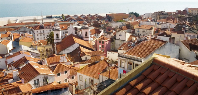 Alfama Lisbon Portugal panoramic view